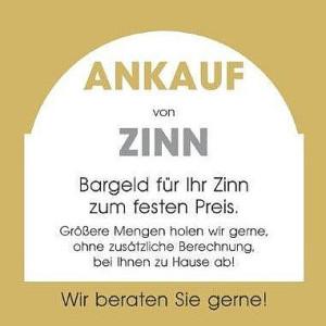 Ankauf Zinn, Bargeld, fester Preis