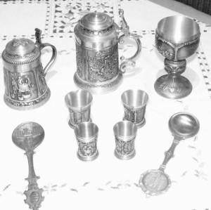 Zinnbecher, Zinnkrug, Wertmetall